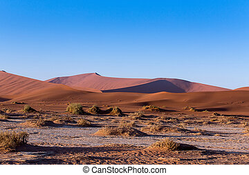 beautiful landscape of Hidden Vlei in Namib desert -...