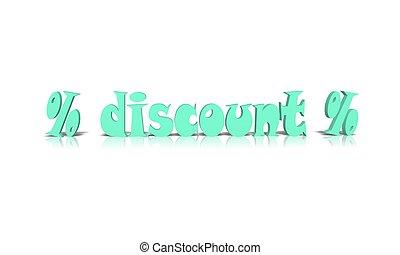 discount % 3d word