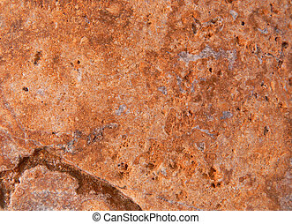 Travertine Limestone Tile 3 - A closeupmacro photograph...