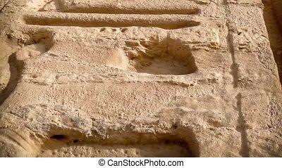 Nefertari temple, Abu-Simbel - Column of hieroglyphs at the...