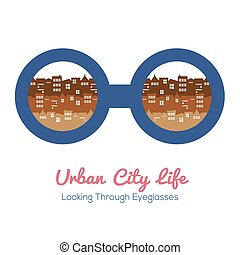 Urban City Life - Urban City Life Vector Illustration