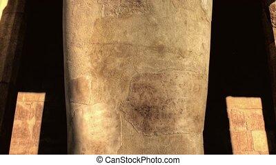 Hatshepsut statue detail - Detail of one of the Hatshepsut...
