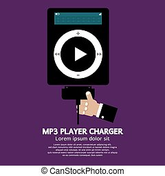 MP3 Player Charger - MP3 Player Charger Vector Illustration...