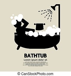 Bathtub - Bathtub Vector Illustration