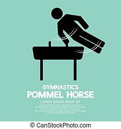 Pommel Horse Gymnastics. - Pommel Horse Gymnastics Black...