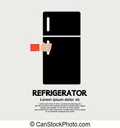 Refrigerator. - Refrigerator Vector Illustration.