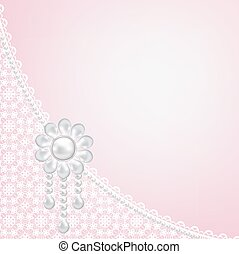 lace frame on pink background - Template for wedding,...