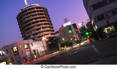 Hollywood Capitol Records 05 Time Lapse - Day to night time...