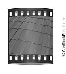 3d roof tiles. The film strip