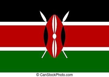 The national flag of Kenya