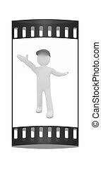 3D, filósofo, orator., el, película, tira,