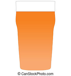 A pint of bitter - Illustration of a pint of bitter beer