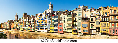 Girona panorama, the most picturesque destination of Costa...