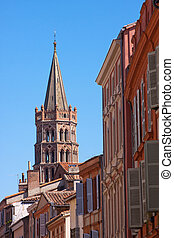Basilica of Toulouse - View on the St. Sernin basilica of...