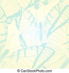 Vector seamless pattern with butterflies. EPS 10