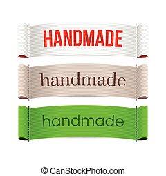 Handmade labels. Vector.