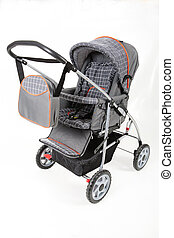 Baby Carriage - Baby carriage on isolated studio background