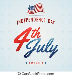 Independence day of American Backgrounds Vector With Blue...