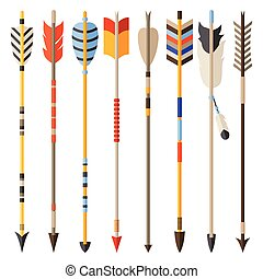 Ethnic set of indian arrows in native style