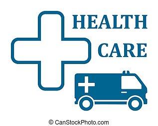 health care ambulance car icon