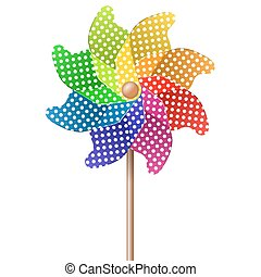 colored pinwheel