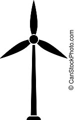Wind turbine icon on white background