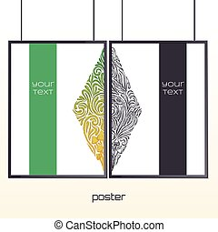 Poster in the Frame Four - Design posters with a color and...