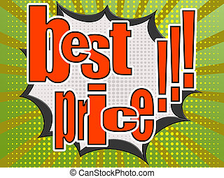 Best price comic speech bubble image with hi-res rendered...