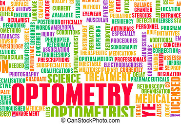 Optometry or Optometrist Medical Field Specialty As Art