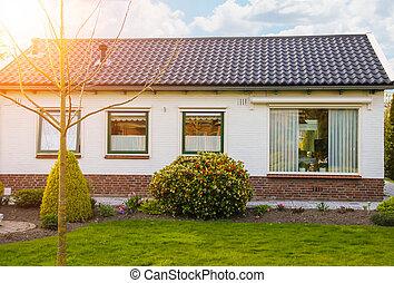 Residential building with a beautiful garden in Meerkerk, Netherlands