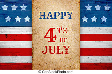 Happy 4th of July banner - Fourth of July patriotic banner,...