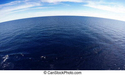 Mediterranean sea from the deck of