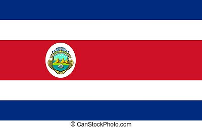 The national flag of Costa Rica