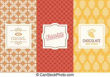 Chocolate and cocoa packaging - Vector set of design...
