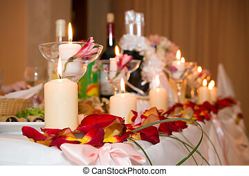 Place on the white festive table