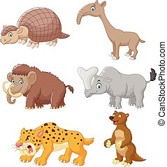Cartoon animal collection set - Vector illustration of...