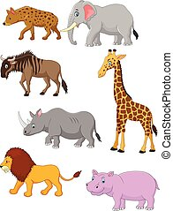 Cartoon Collection animal africa - Vector illustration of...