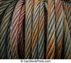 Heavy Duty Metal Cables - Background Texture Of Some Heavy...