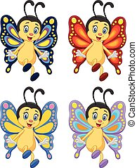Cartoon collection butterfly - Vector illustration of...