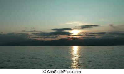 Time lapse of Sunrise on Baikal lake