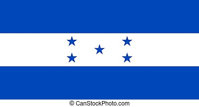 The national flag of Honduras