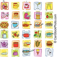 Meal and ware doodle set