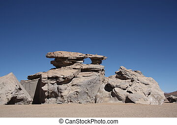 Stone rock formation in the desert