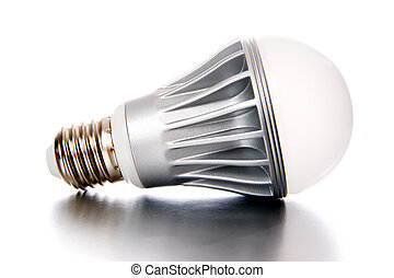 LED light bulb isolated on a white background