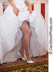piedi, sposa