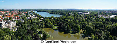 Hannover Germany - panoramic view of Hannover, Germany,...