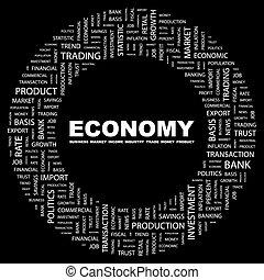ECONOMY. Background concept wordcloud illustration. Print...