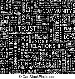 TRUST Seamless pattern Word cloud illustration