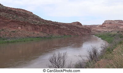 Colorado River - the colorado river flowing through the...