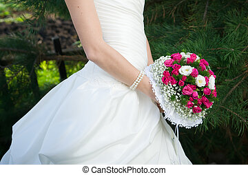 Bridal bouquet - Luxurious bouquet in bride's hand